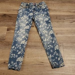 Cat and Jack Jegging Skinny Jeans 6x Flowers